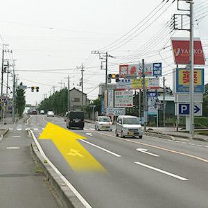 ヤオコーから東松山方面に県道27号を走ってください。